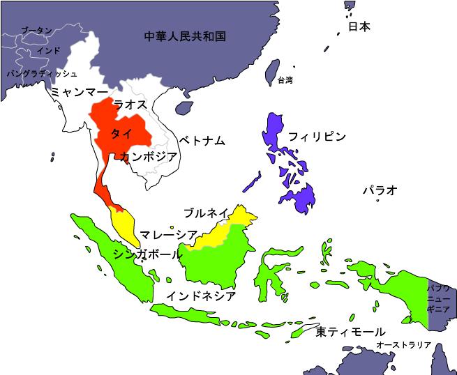 マレーシアとASEAN諸国 http://asiasns.blogspot.jp/2013_08_01_archive.htmlより