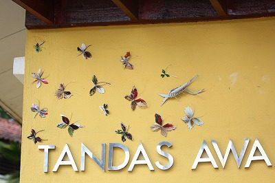 TANDASはトイレ、 トイレの壁に、きれいな飾りつけ、クアラルンプールの植物園