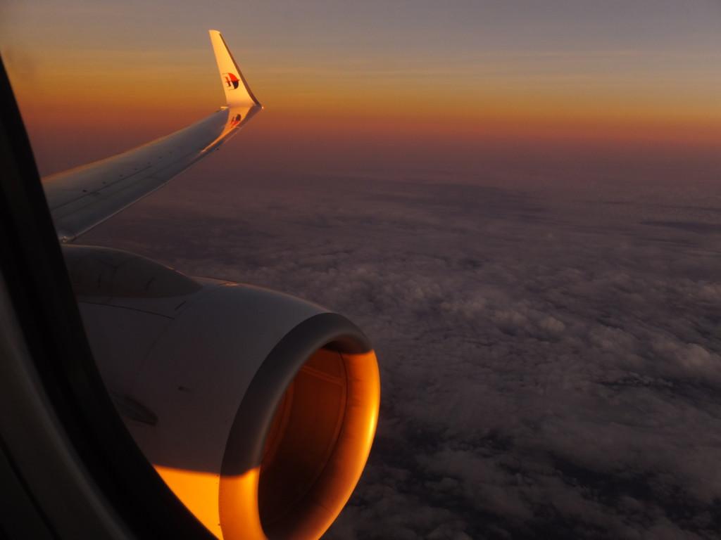ボルネオに向かうマレーシア航空機 2014.2.10