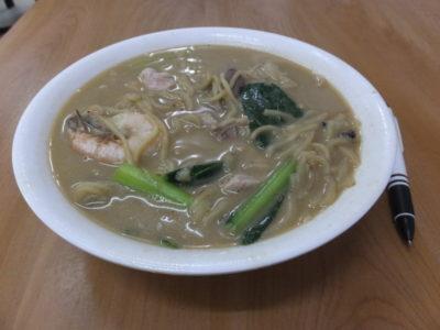 2014.2.11朝 海鮮ビーフン RM6.5