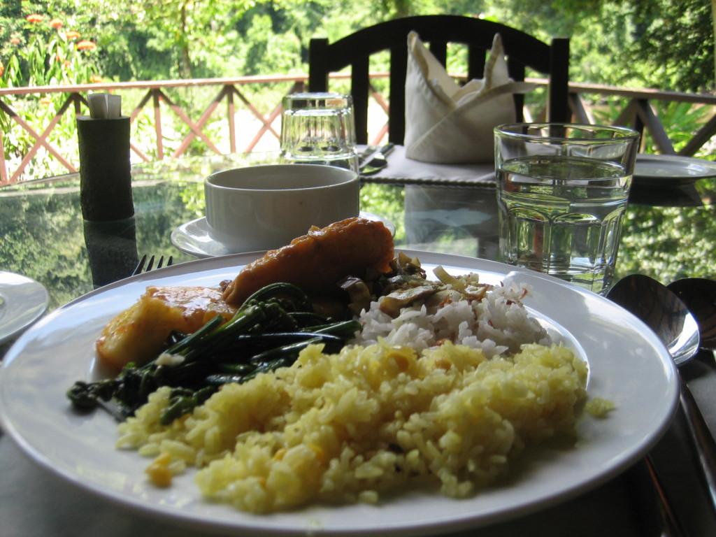 ご飯は長粒種、おかずと混ぜるとおいしい 2012.7.1 ダナンバレー