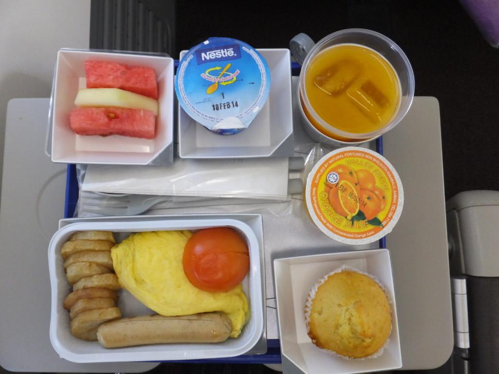 マレーシア航空の機内食  2014.2.15 コタキナバル⇒成田 朝