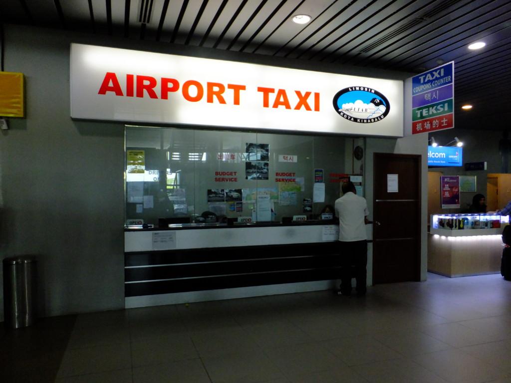 コタキナバル空港タクシーチケット売り場 2017.2.13