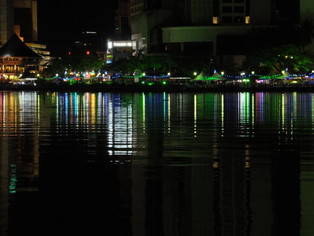 サラワク川夜景 2017.2.16