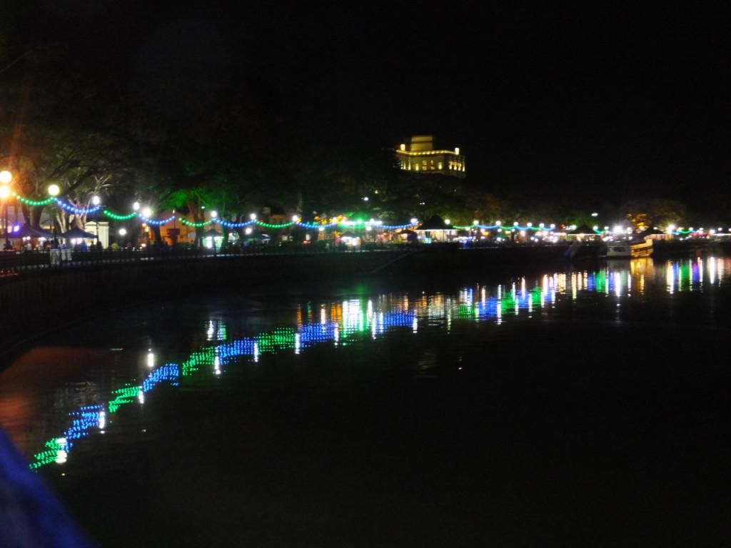 サラワク川夜景 2017.2.17