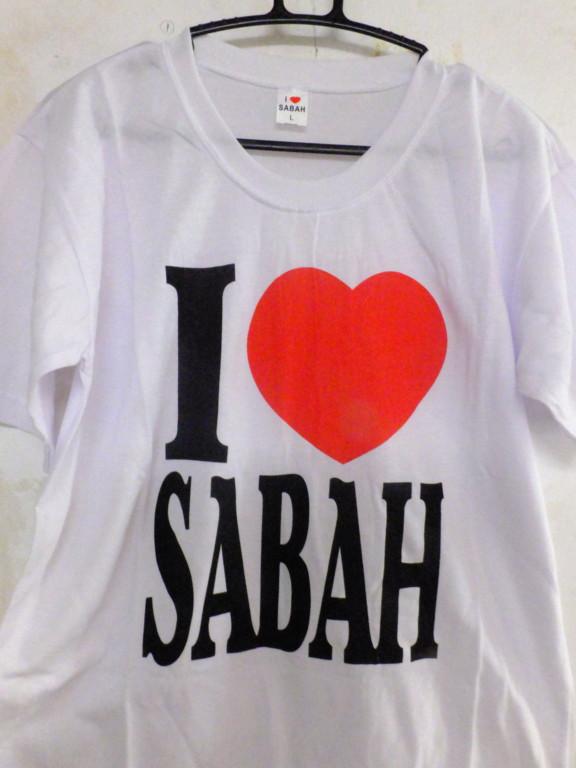 Tシャツ I love SABAH センターポイント