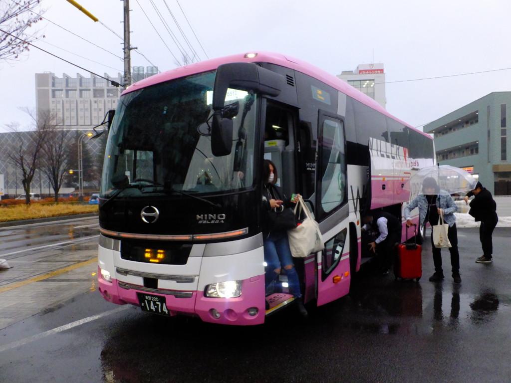 長野駅東口到着