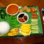 マレーシアの世界遺産グヌンムル国立公園レストランの食事 2017年2月