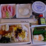 マレーシア航空成田ーコタキナバル直行便の機内食、おいしいよ。  2017年2月