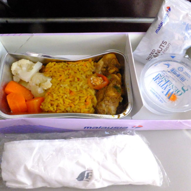 マレーシア航空の国内線機内食 MH3822 2017.2.18